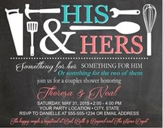 Couples bridal shower invitation, his and her bridal shower invitation                                                                                                                                                                                 More