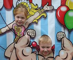 EXALTED BEAUTY: Carnival Birthday Party photo booth