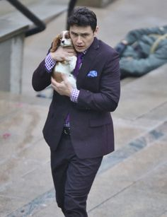 James Franco Holding a Puppy on the Set of The Interview. It doesn't get much better than this...