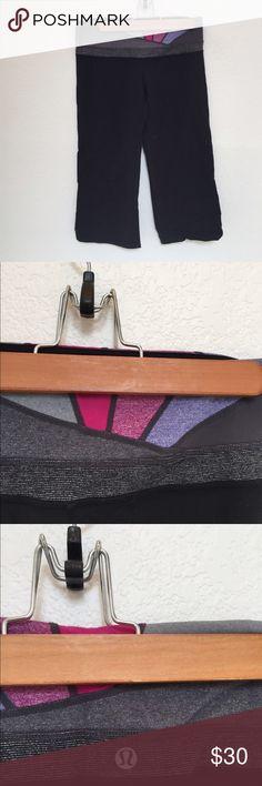 Lululemon Capri pants These capris have an amazing print to waistline! Light piling! lululemon athletica Pants Capris