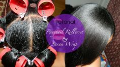 Ponytail Roller set with Saran Wrap Method