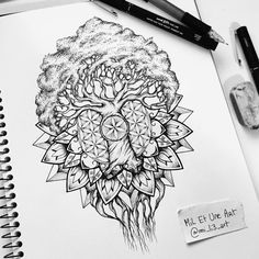 "Check out this @Behance project: ""Yggdrasil mandala tattoo design""…"