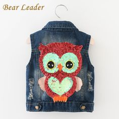 Girls Outerwear Cowboy Waistcoats Length Jacket Cartoon Owl Appliques Coat for Kids Sleeveless Vests $19.11   => Save up to 60% and Free Shipping => Order Now! #fashion #woman #shop #diy  http://www.bbaby.net/product/bear-leader-girls-outerwear-2016-autumn-cowboy-waistcoats-length-jacket-cartoon-owl-appliques-coat-for-kids-sleeveless-vests
