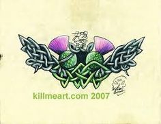 Thistle celtic knot by William Burns