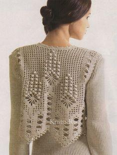 Filet Crochet, T-shirt Au Crochet, Crochet Bolero, Cardigan Au Crochet, Crochet Capas, Pull Crochet, Mode Crochet, Crochet Shirt, Crochet Jacket