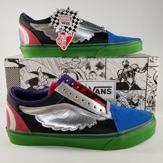 5803aa2f6a6 Vans Shoes | Vans X Marvel Old Skool Avengers Men'S Sneakers 10 | Color:  Blue/Red | Size: 10