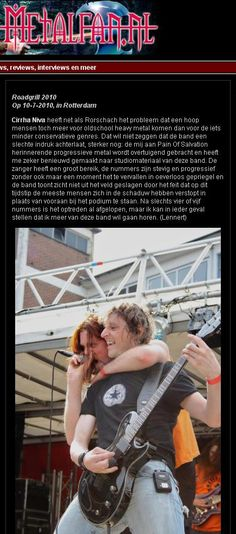 """""""I want to hear more of this band."""" NL Metalfan Roadgrill Review."""