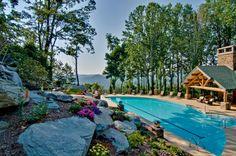 Beautiful Ridge-Top outdoor pool located at Echota on the Ridge.   www.FoscoeRentals.com