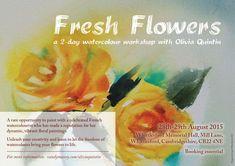 Watercolour workshop in Cambridge ( UK ) August 2015 Cambridge Uk, Painting Workshop, New Art, Watercolor Art, Creative, Flowers, Artist, Atelier, Noel