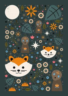 Carly Watts Art & Illustration: Forest Fox Familiar
