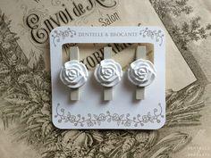 Dentelle & Brocante: Pinces à linge à fleurs!