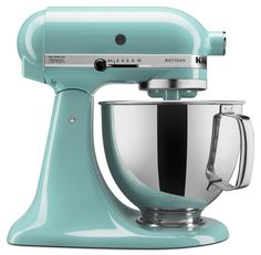 Amazon.com: KitchenAid KSM150PSAQ 5-Qt. Artisan Series with Pouring Shield - Aqua Sky: Electric Stand Mixers: Kitchen & Dining