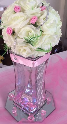 Quinceanera Party Planning – 5 Secrets For Having The Best Mexican Birthday Party Quinceanera Centerpieces, Quinceanera Party, Party Centerpieces, Floral Centerpieces, Floral Arrangements, Wedding Decorations, Paris Sweet 16, Sweet 15, Paris Birthday