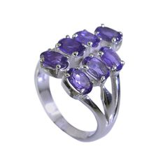 silver Ring Amethyst Ring Purple silver Ring 925 Amethyst Ring Gemstone Ring 925 Filigree Ring Engagement Ring SRAME7.5-2059 by RiyoGems