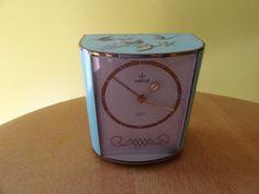 """Vintage 1950's Hampden 7 Jewels Musical Wind Up Alarm Clock """"Auld Lang Syne"""" on…"""