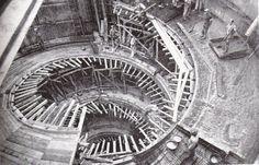 Foto storiche di Roma - Musei Vaticani - Costruzione scalinata a doppia elica  Anno: 1931