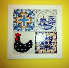 Quadro feito com azulejos portugueses - DYI