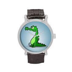 Crocodile Watch #Zazzle #Cardvibes #Tekenaartje #SOLD