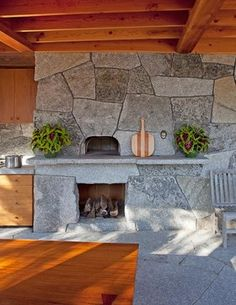 Pizza Oven Combo With Outdoor Fireplace Design Ideas, Pictures, Remodel, and Decor