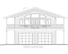 Home Plan: - Front Elevation Plan Garage, Garage House Plans, Garage Ideas, Two Storey House Plans, Patio Railing, Large Laundry Rooms, Lake House Plans, Bedroom Fireplace, Front Elevation