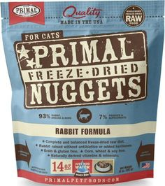 Primal Freeze Dried Cat Food - Rabbit formula - 14 oz. | Cats Food -- Click image to review more details. (This is an affiliate link) #petstagram