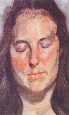Mulher de olhos fechados - Lucian Freud