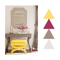 Taupe, Magenta & Yellow Colour Scheming
