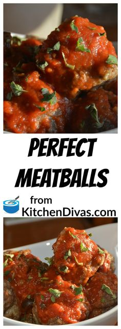 These meatballs are totally delicious. You can use them with pasta, in a sauce or in a sandwich. Stuffed or not. Big or small. These are Perfect Meatballs. My two favorite meat combinations are 1 pound of ground beef, a 1/2 pound of ground veal and a 1/2 pound of ground pork or 1 pound turkey and 1 pound veal. You have to give these a try.