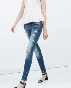 DISTRESSED JEANS-View all | ZARA Philippines