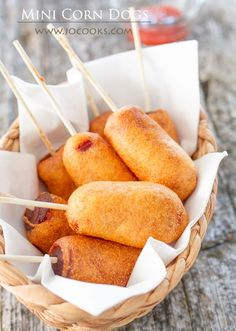 Learn how to make these super cute and adorable mini corn dogs. They're yummy and delicious and fun to make. Perfect for GAME DAY!