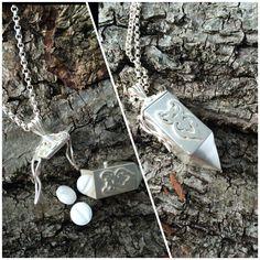 Pill box in silver. Handmade