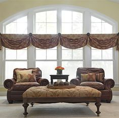 casual swag on rosettes -Custom Drapery | Window Treatments | Arlington Heights, IL