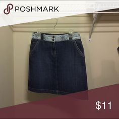 Adorable Denim Skirt!!! Adorable Denim Skirt!!! Like New!!! Cute floral detailing!!! Talbots  Skirts