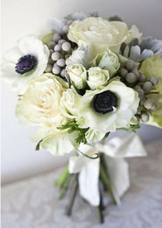 grey in a bouquet