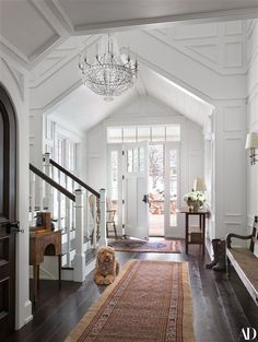 Felicity Huffman's home with charming entryway details.