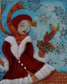 Winter Girl - stitch guide/stitched by Lisa Kessler