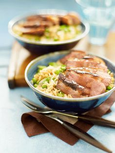 A quick Chinese-style duck and egg fried rice recipe that's surprisingly low in calories.
