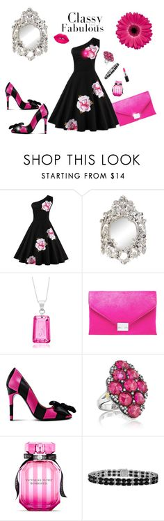 Classy and Fabulous Hot pink , black  and silver  Diva of Cake on Polyvore featuring mode, Boutique Moschino, Loeffler Randall, Tacori, MAC Cosmetics and Victoria's Secret