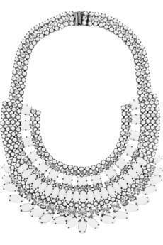 Tom Binns Carte Blanche silver-plated Swarovski crystal necklace