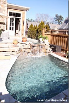 This is a beautiful house, but my favorite feature is this little pool.