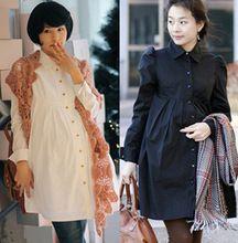 Annelik bahar Kore İlkbahar ve Sonbahar Hamile Uzun kollu elbiseler (Çin (Anakara))