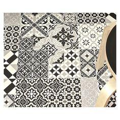 Tapis Beija Flor Eclectic noir et blanc / MyBohem