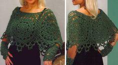 poncho-verde-en-crochet
