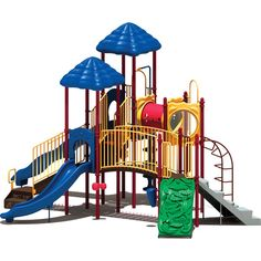 Ultra Play UPlay Today Clingman's Dome Playground Color: Playful (Red, Yellow and Blue) Indoor Playset, Step Treads, Dome Structure, Commercial Playground Equipment, Jungle Gym, Thing 1, Wooden Slats, Blow Molding, How To Level Ground