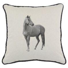 Horse Print Pillow.