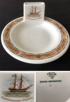 Syracuse China Matchbook Holder made for the Commodore Perry Hotel, Toledo OH. Date code (Jun Syracuse China, Dining Services, Restaurant, Ephemera, Jun, Plates, Tableware, Licence Plates, Dishes