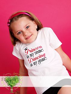 Princess is my name Dancing is my game Boutique Embroidery Shirt or Onesie by ABC Creative Learning