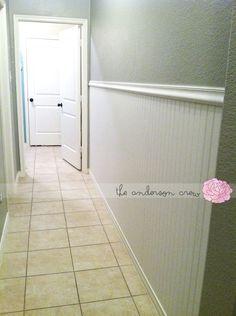 hallway love. Beadboard idea!