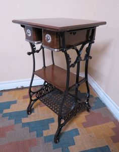 57 ideas sewing table makeover drawers for 2019 Furniture Update, Furniture Makeover, Diy Furniture, Antique Furniture, Cherry Furniture, Furniture Stores, Sewing Machine Tables, Antique Sewing Machines, Repurposed Furniture