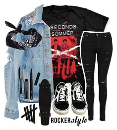 """Rocker style🤘🏼❤️"" by westcoastbabes ❤ liked on Polyvore featuring Vans, ASOS, Bobbi Brown Cosmetics, contest, 5sos, rocker, rockerchic and rockerstyle"